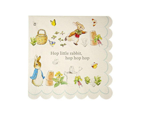 Paper Napkins - Peter Rabbit Large Paper Napkins, 20 Pcs
