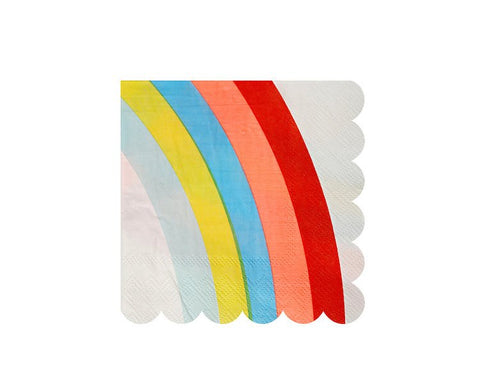 Paper Napkins - Rainbows And Unicorns Small Paper Napkins, 20 Pcs