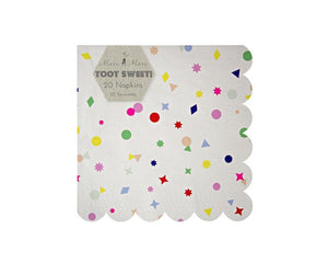 Paper Napkins - Toot Sweet Charms Large Paper Napkins, 20 Pcs