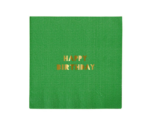 Paper Napkins - Toot Sweet Happy Birthday Large Paper Napkins, Assorted, 16 Pcs