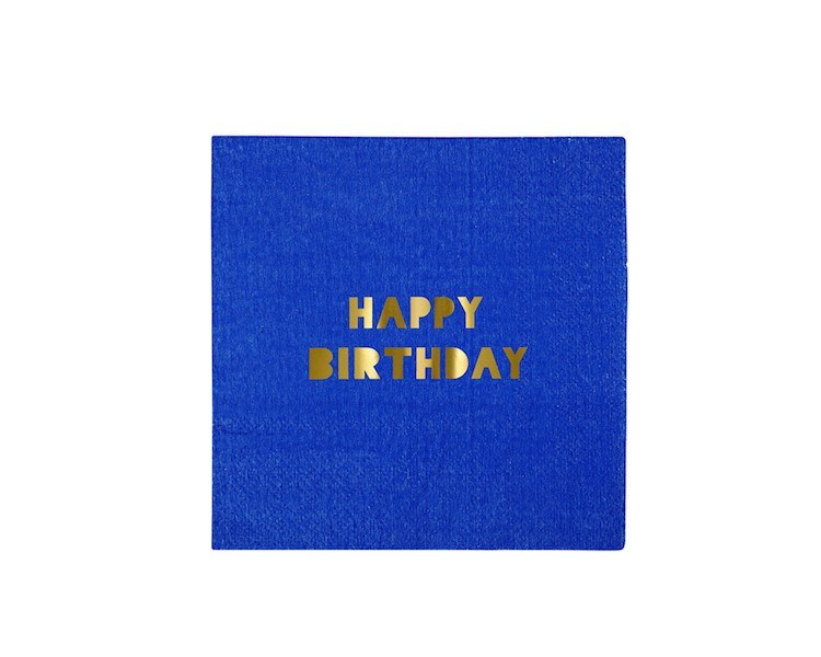 Paper Napkins - Toot Sweet Happy Birthday Small Paper Napkins, Assorted, 16 Pcs