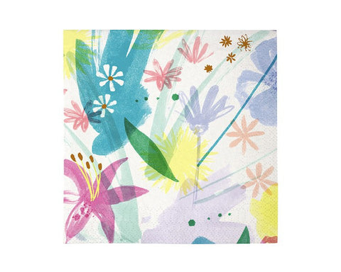 Paper Napkins - Toot Sweet Painted Flowers Large Paper Napkins