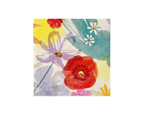 Paper Napkins - Toot Sweet Painted Flowers Small Paper Napkins
