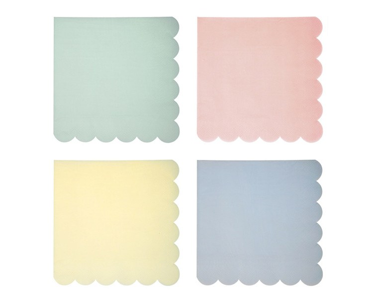 Paper Napkins - Toot Sweet Pastel Large Paper Napkins, Assorted, 20 Pcs