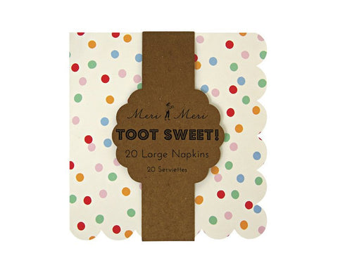 Paper Napkins - Toot Sweet Spotty Large Paper Napkins, 20 Pcs
