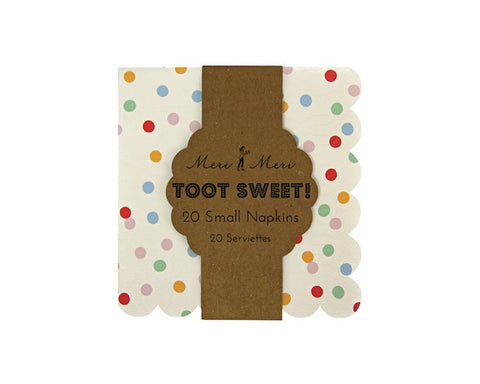 Paper Napkins - Toot Sweet Spotty Small Paper Napkins, 20 Pcs
