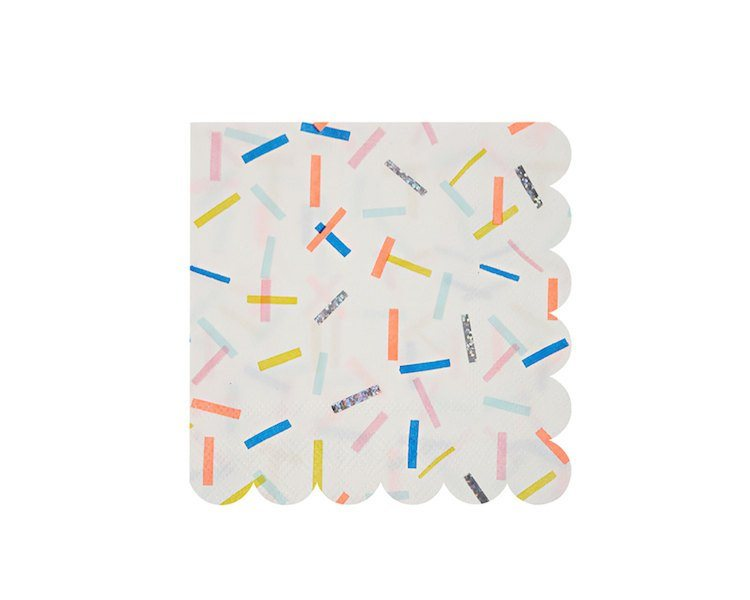 Paper Napkins - Toot Sweet Sprinkles Small Paper Napkins, 16 Pcs