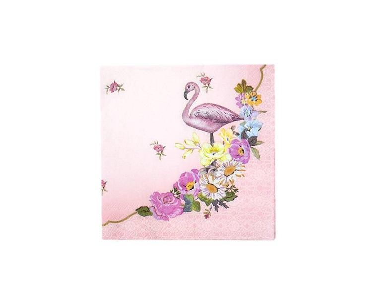 Paper Napkins - Truly Flamingo Paper Napkins, Small