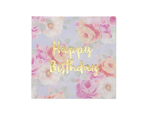 Paper Napkins - Truly Scrumptious Happy Birthday Paper Napkins, Large