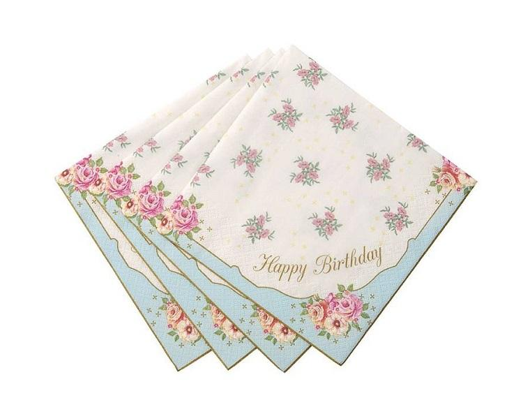 Paper Napkins - Truly Scrumptious Paper Napkins - Happy Birthday, Large
