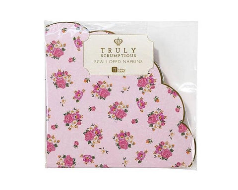 Paper Napkins - Truly Scrumptious Scalloped Paper Napkins