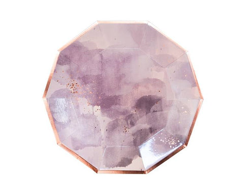 Paper Plates And Bowls - Amethyst Light Purple Paper Plates, Large