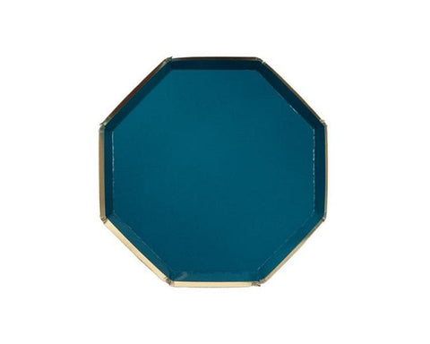 Paper Plates And Bowls - Dark Teal Plates, Small