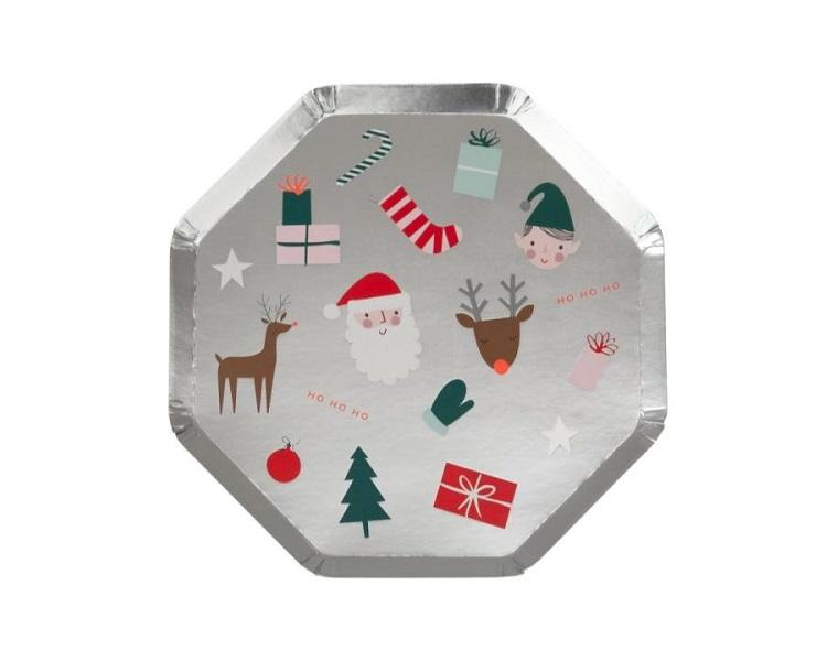 Paper Plates And Bowls - Festive Fun Side Paper Plates