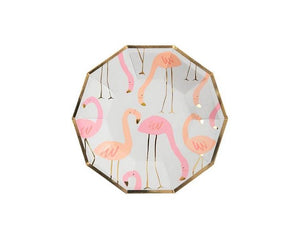 Paper Plates And Bowls - Flamingo Small Paper Plates