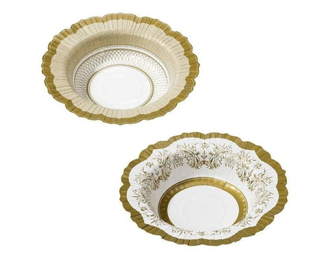 Paper Plates And Bowls - Gold Porcelain Paper Bowls, Medium