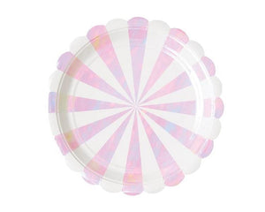 Paper Plates And Bowls - Iridescent Paper Plates, Large
