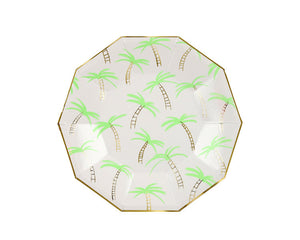 Paper Plates And Bowls - Palm Trees Large Paper Plates