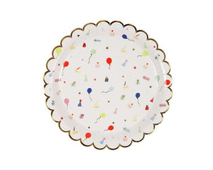 Paper Plates And Bowls - Party Icon Paper Plates, Large