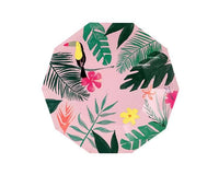Paper Plates And Bowls - Pink Tropical Large Paper Plates