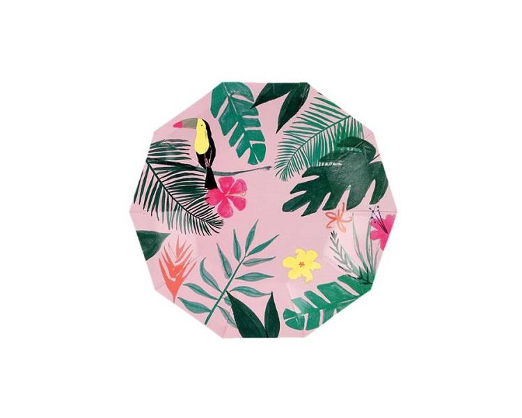 Paper Plates And Bowls - Pink Tropical Small Paper Plates  sc 1 st  Charmios & Tropical Paper Plates