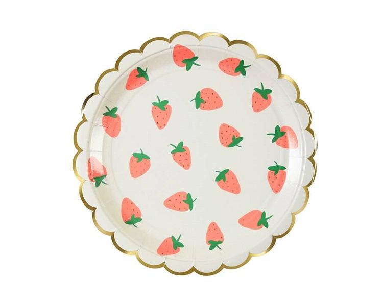 Paper Plates And Bowls - Strawberry Paper Plates Large  sc 1 st  Charmios : strawberry paper plates - pezcame.com