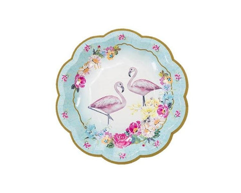 Paper Plates And Bowls - Truly Flamingo Paper Plates, Small