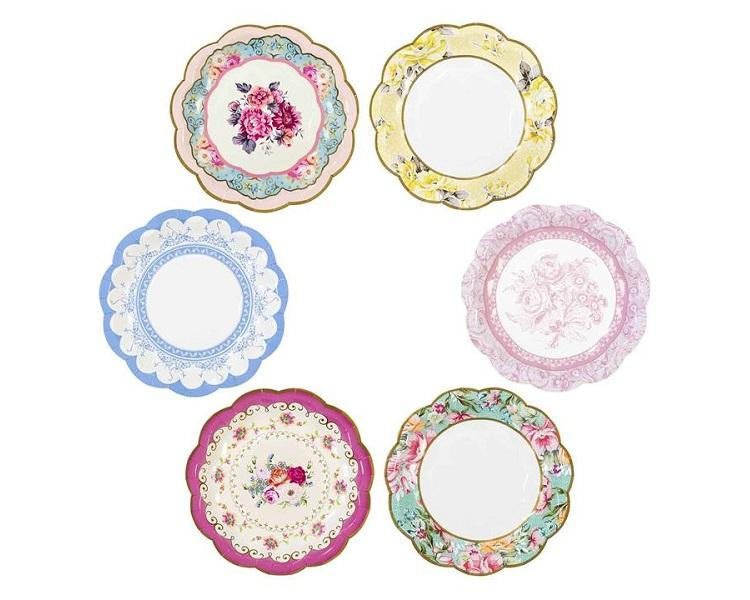 Paper Plates And Bowls - Truly Scrumptious Paper Plates Small  sc 1 st  Charmios & Truly Scrumptious Vintage Paper Plates