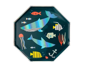 Paper Plates And Bowls - Under The Sea Dinner Plate