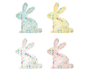Paper Plates And Bowls - Wildflower Bunny Pastel Paper Plates