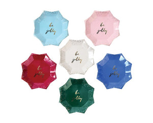 Paper Plates - Glitter Be Jolly Canape Paper Plates, 8 Pcs