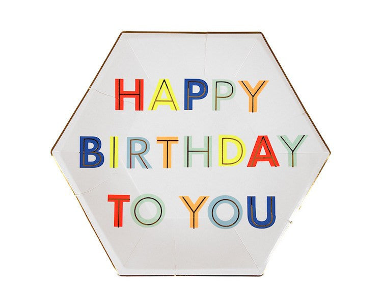 Paper Plates - Happy Birthday To You Large Paper Plates