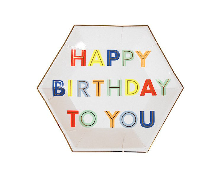 Paper Plates - Happy Birthday To You Small Paper Plates