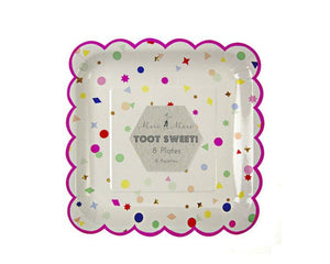 Paper Plates - Toot Sweet Charms Large Paper Plates, 8 Pcs