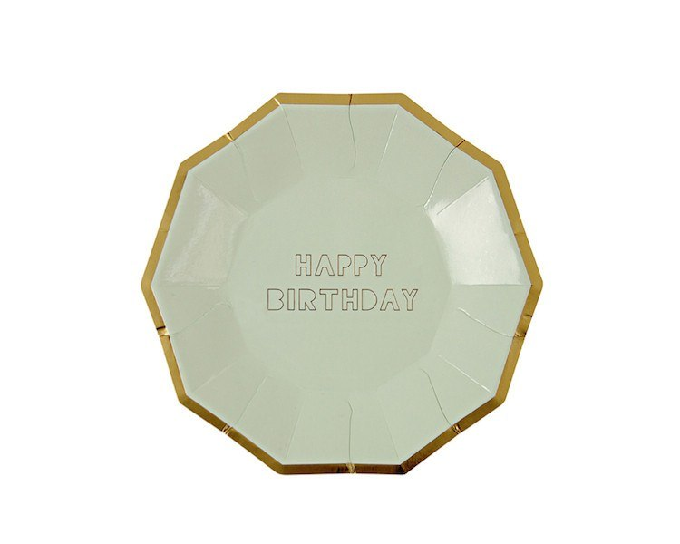 Paper Plates - Toot Sweet Happy Birthday Large Paper Plates, Assorted, 8 Pcs