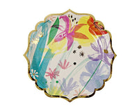 Paper Plates - Toot Sweet Painted Flowers Large Paper Plates