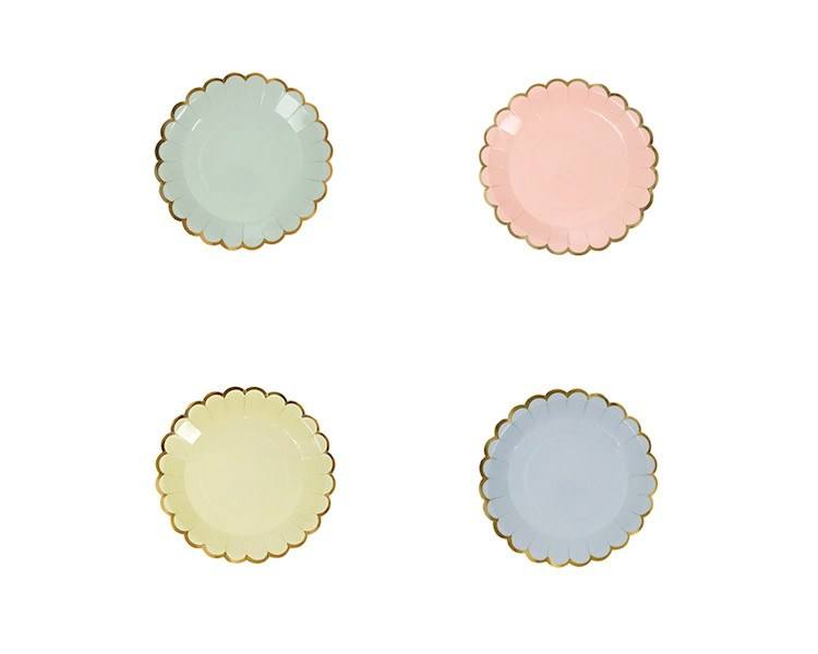 Paper Plates - Toot Sweet Pastel Canape Paper Plates, Assorted, 8 Pcs