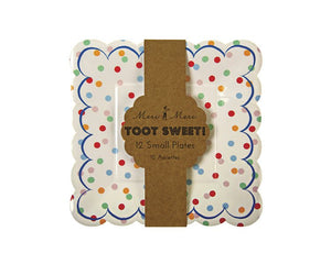 Paper Plates - Toot Sweet Spotty Small Paper Plates, 12 Pcs