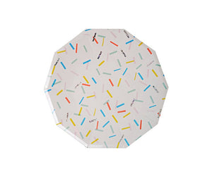 Paper Plates - Toot Sweet Sprinkles Large Paper Plates, 8 Pcs