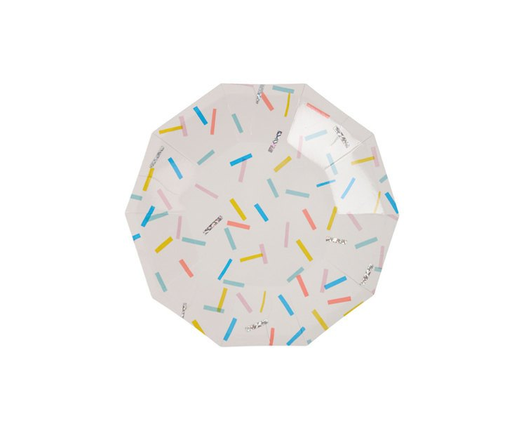 Paper Plates - Toot Sweet Sprinkles Small Paper Plates, 8 Pcs