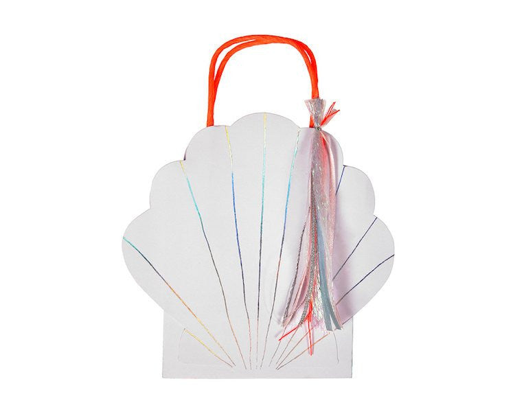 Party Favor Bags - Let's Be Mermaids Shell Party Favor Bags