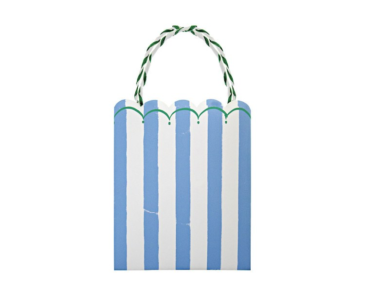 Blue Striped Party Bags