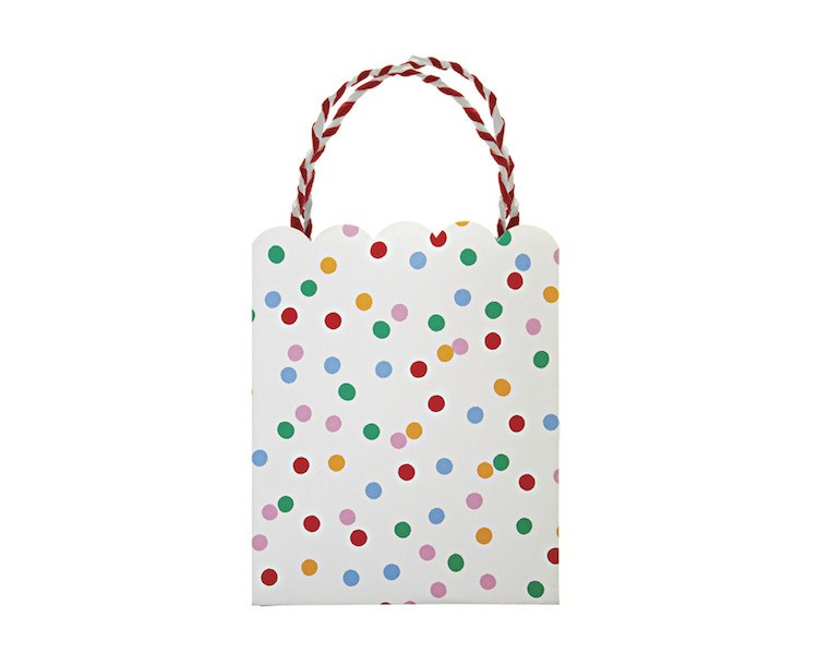 Party Favor Bags - Toot Sweet Spotty Party Favor Bags, 8 Pcs