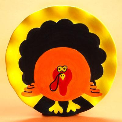 Pottery Paint Class - Perky Turkey Plate - After School Pottery Painting Series On Thursday, November 15 2018