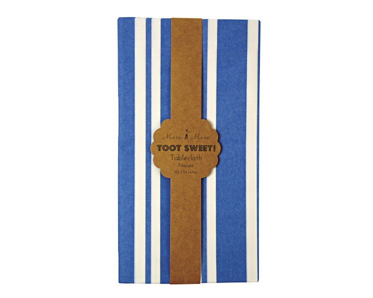 Tablecloth - Toot Sweet Blue Stripe Tablecloth, 1 Pc