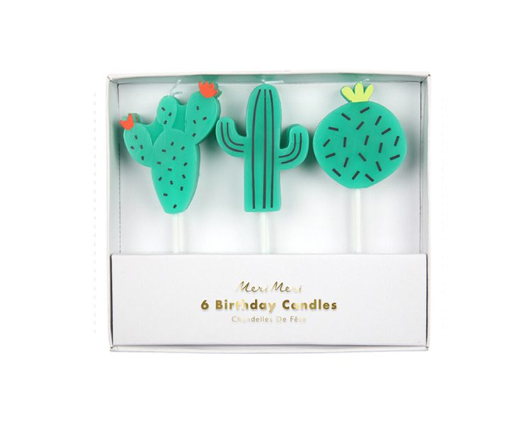 Toppers & Picks - Cactus Candles
