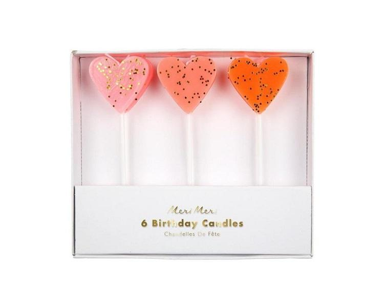 Toppers & Picks - Heart Candles