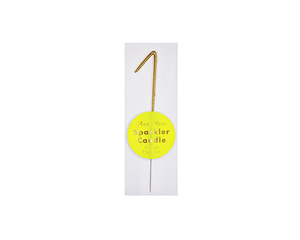 Toppers & Picks - Sparkler 1 Gold Mini Candle