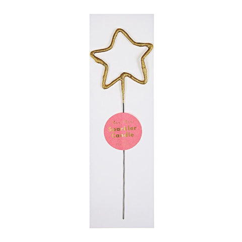 Toppers & Picks - Sparkler Star Gold Mini Candle