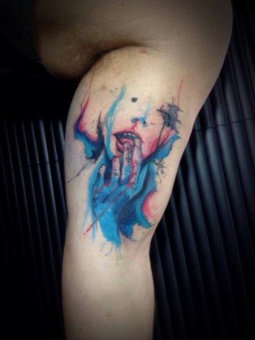 amazing watercolor tattoo